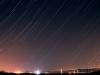 Traces d'estels al cel est des de Manresa - 07/08/2016
